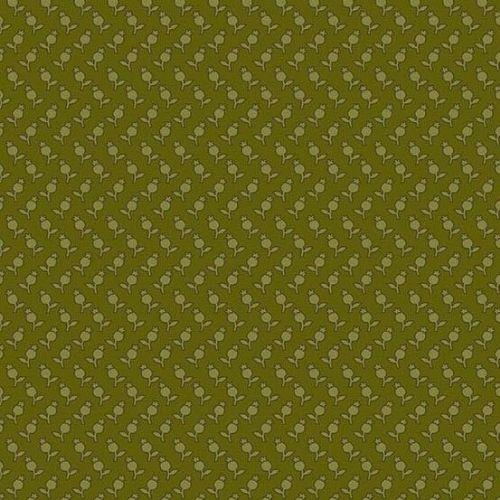 Andover SEQUOIA, Tulips Green 8757G, 100% Cotton Patchwork Quilting Fabric